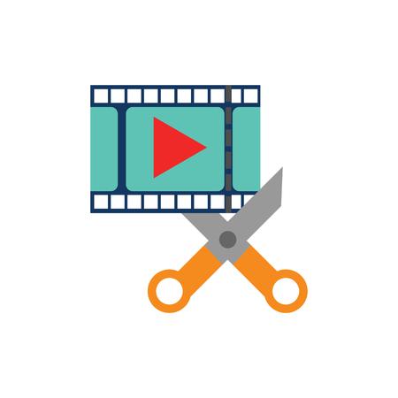 Cut Film Video Logo Icon Design