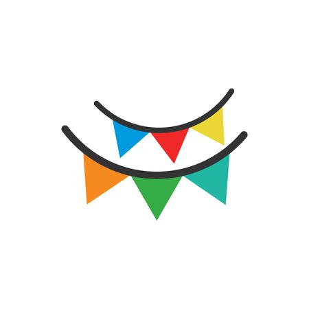 Decor partij embleemontwerp pictogram Vector Illustratie