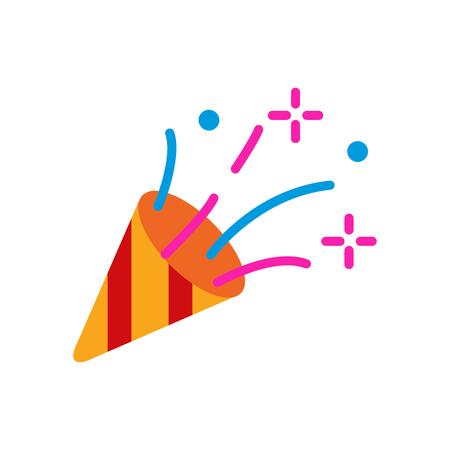 Hoorn partij embleemontwerp pictogram Vector Illustratie