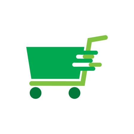 Fast Shop And Buy Logo Icon Design Vettoriali