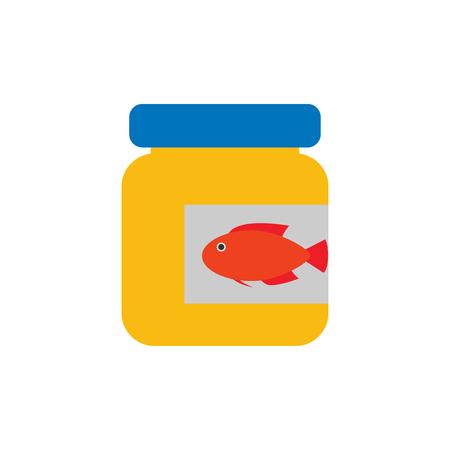 Fish Food Pet Logo Icon Design