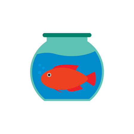 Fish Pet Logo Icon Design Vettoriali