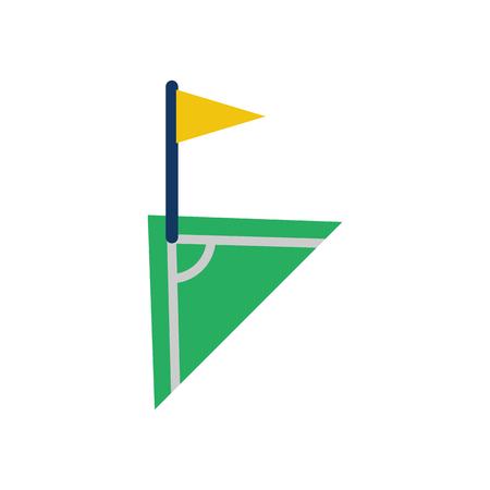 Corner Soccer Logo Icon Design Vettoriali