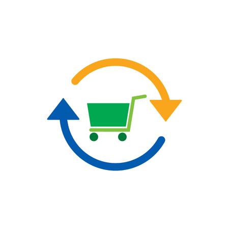 Refresh Shop And Buy Logo Icon Design Vettoriali