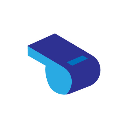 Whistle Soccer Logo Icon Design Vettoriali