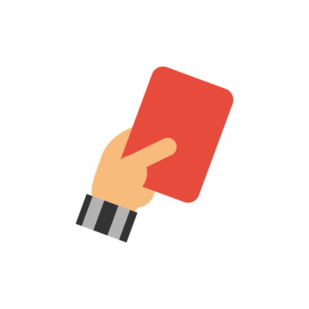 Red Card Soccer Logo Icon Design Ilustracja