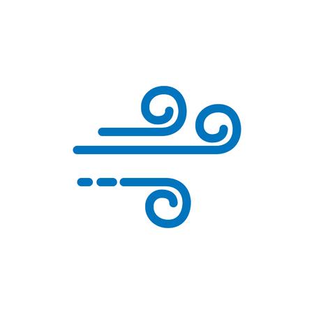 Conception d'icône de logo météo vent