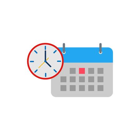 Calendar Time Logo Icon Design