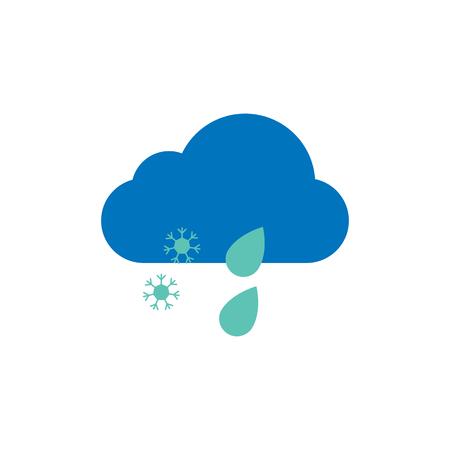 Water Weather Logo Icon Design