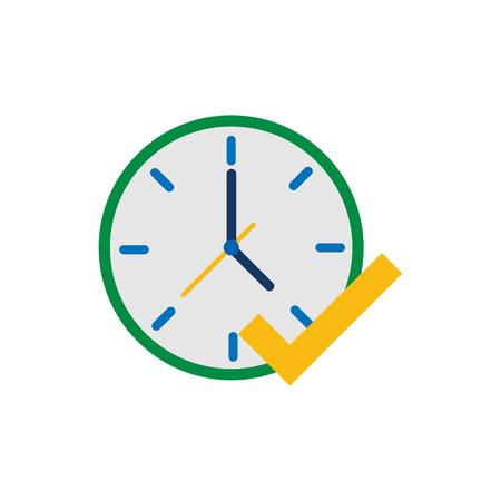 Mark Time Logo Icon Design