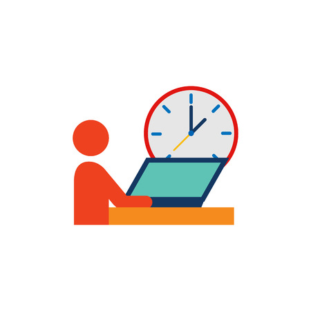 Work Time Service Logo Icon Design