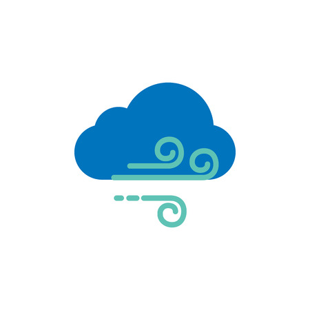 Wind Weather Logo Icon Design