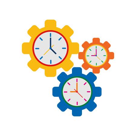 Wheel Time Service Logo Icon Design