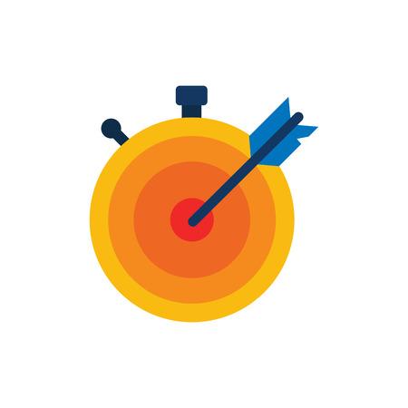Accuracy Time Service Logo Icon Design