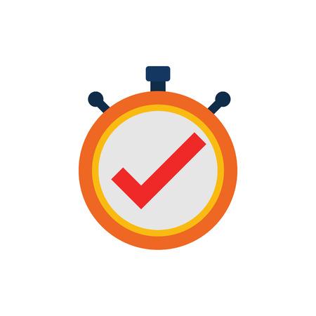 Check Time Service Logo Icon Design Illustration