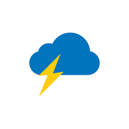 Thunder Weather Logo Icon Design