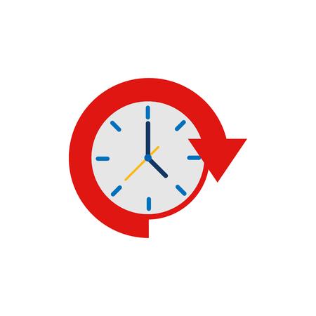 24 Hour Time Logo Icon Design Vettoriali