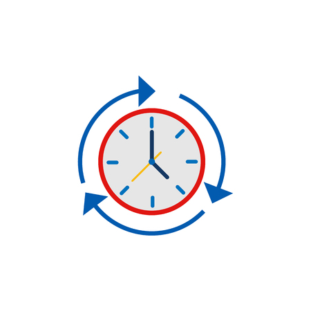 Diseño de icono de logotipo de servicio de tiempo de actualización Logos
