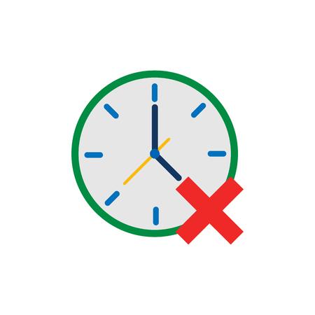 Delete Time Logo Icon Design Vettoriali