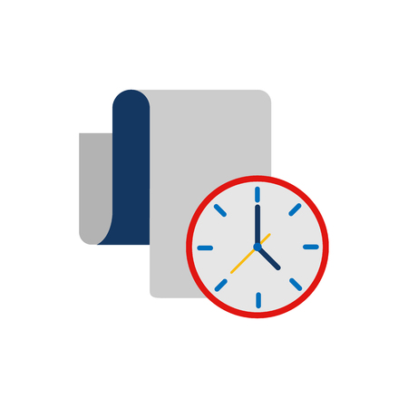 Document Time Logo Icon Design Иллюстрация