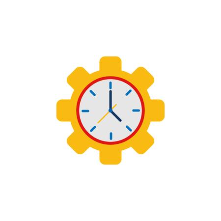 Gear Time Service Logo Icon Design
