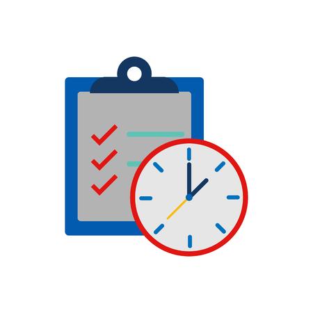 Check Time Service Logo Icon Design Vettoriali