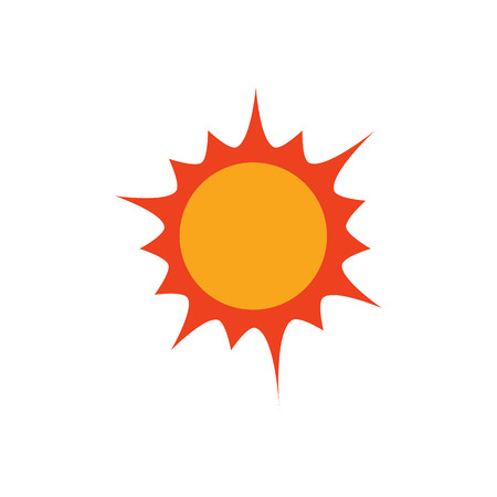 Sun Weather Logo Icon Design Иллюстрация