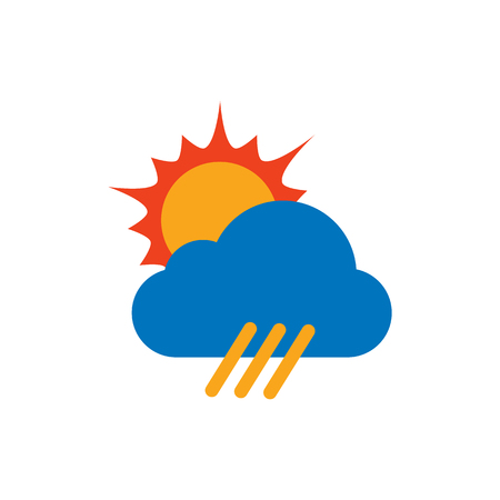Sun Weather Logo Icon Design Ilustração