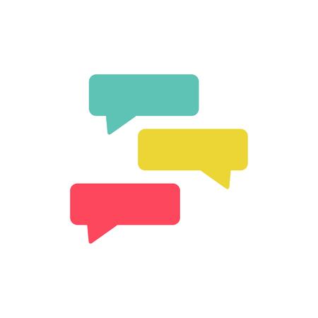 Chat Testimonial Logo Icon Design