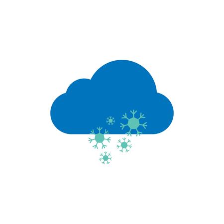 Snow Weather Logo Icon Design