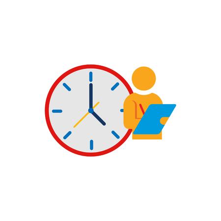 Schedule Time Logo Icon Design Vettoriali