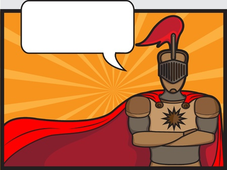 talkative: A cartoon illustration of a talkative knight