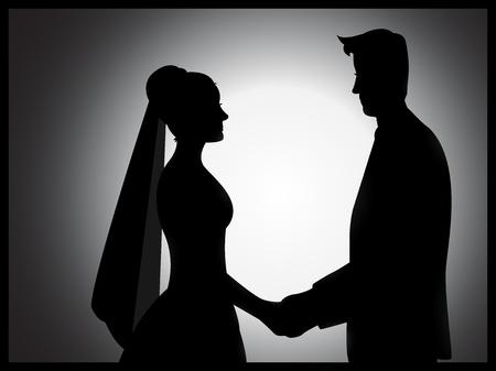 euphoric: Un paio silhouette matrimonio con effetti di ombreggiatura