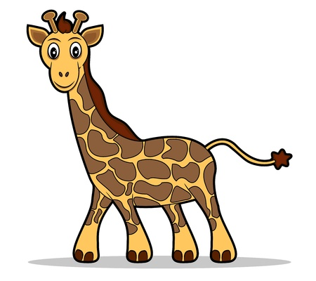 A  illustration of a cute giraffe