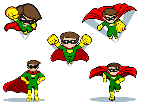 An illustration of a Superhero Set