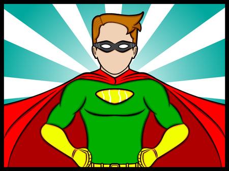 toughness: Un fumetto illustrazione di un supereroe