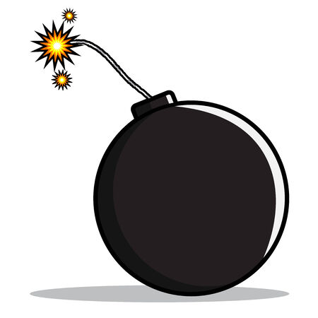 A cartoon illustration of bomb