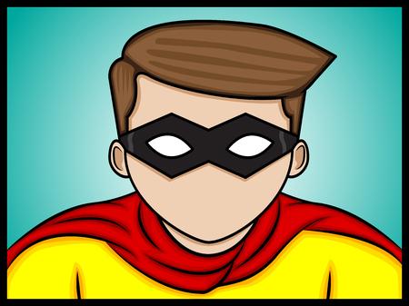 A cartoon illustration of a hero  Illustration