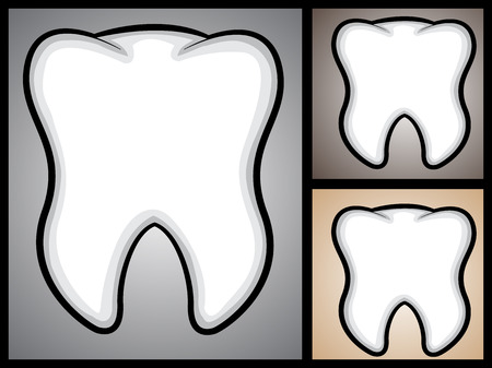 A cartoon illustration of a tooth  Illustration