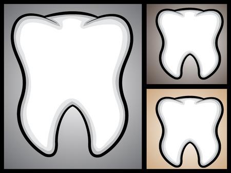 A cartoon illustration of a tooth  Illustration