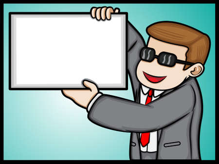 an illustration of a happy businessman Illustration
