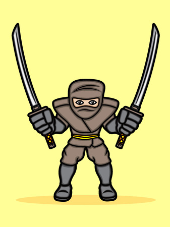 A cartoon illustration of a ninja