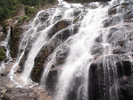 Waterfall Lansir at Chemerong Park, Peninsular Malaysia Stock Photo - 6405408