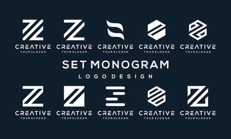 Set of creative letter design, vector illustration, monogram design ready to use, bundle design Vector Illustratie