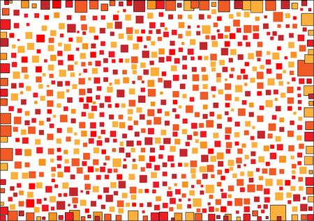 Geometric shape on white background.- illustration,square,wallpaper