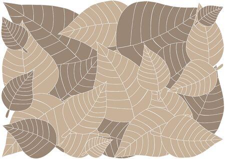 Brown leaves background illustration