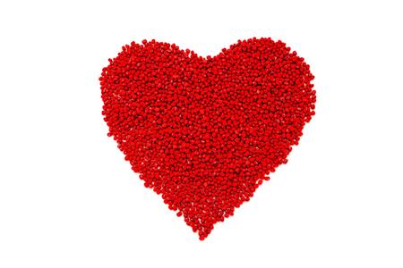 red bean: Red bean heart valentines