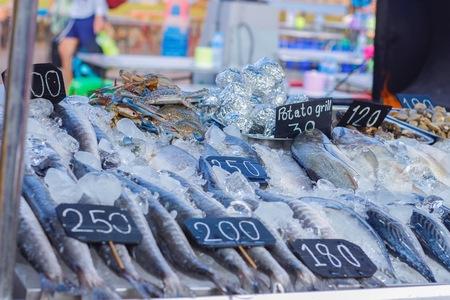 Seafood market select focus.