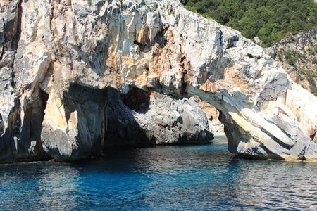 sard: Cliff in the Mediterranean Sea