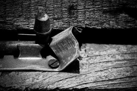 Door Chain is Dilapidated Stock Photo - 16491419